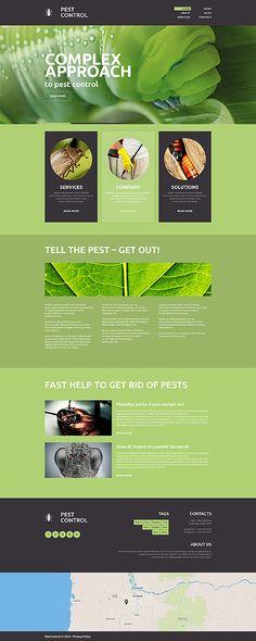 Template 49152 - Pest Control  Responsive Website Template