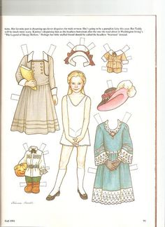 Sew Beautiful paper doll Katrina 1 by Lagniappe*Too, via Flickr