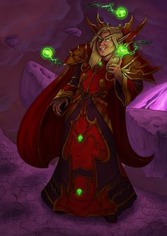 His outfit is a killer @_@ Some time ago I posted a status saying that I feel like drawing him so here it is.  Kael'thas Sunstrider belongs to Blizzard Entertainment