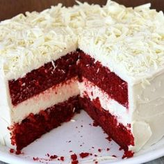 red velvet cheesecake Red velvet cake mix Pinterest Red velvet