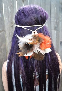 #feather #headband #featherheadband #tribal #native #bohemian #festivals #raves #hippie #gypsy