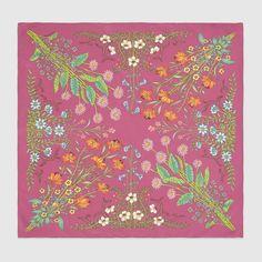Gucci Women - Gucci Silk Sienna new flora print carré - $345.00