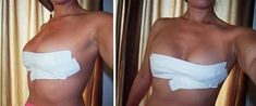"""If you can't wear a bra with your dress, there's a fantastic braless way to lift your breasts and create great cleavage. And it actually works, even for those of us with bigger boobs! I call this """"Breast Taping"""", or using """"Boob Tape"""". Celebs like Kim K do it, and guess what? So can we! …"""
