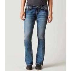 Miss Me Signature Boot Stretch Jean - Blue 30/31 ($99) ❤ liked on Polyvore featuring jeans, blue, low rise stretch jeans, miss me bootcut jeans, slim fit bootcut jeans, low rise bootcut jeans and slim bootcut jeans