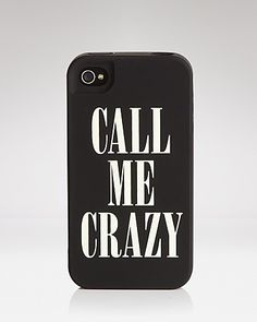 "kate spade new york iPhone 4 Case - ""Call Me Crazy"" 
