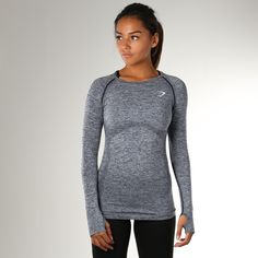 Available in two colour marls, the Gymshark Seamless Long Sleeve top's Seamless knit gives you a closer, more comfortable fit.