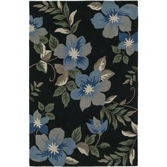 Addison Nassau Tropic Floral Night/Multi Plush Area Rug