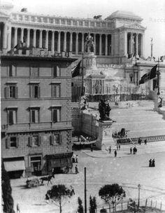 Foto storiche di Roma - Piazza Venezia - Vittoriano Anno: 1910 ca.
