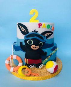 Bing bunny summer cake - cake by VanessaFontana - CakesDecor Boys 1st Birthday Cake, Birthday Party Design, Birthday Cakes, Coelho Bing, Bing Cake, Bing Bunny, Watermelon Birthday Parties, Wedding Welcome Gifts, Summer Cakes