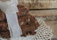 brownies al cioccolato fondente e mandorle ricetta come fare i brownies