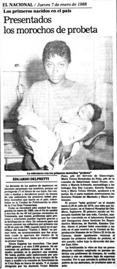 Primeros morochos probeta nacidos en el país. Publicado el 7 de enero de 1988.