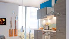 La couleur entre désormais dans la cuisine grâce aux meubles et aux murs ! Et pour changer du rouge qui a fait fureur dans cette pièce, on mise sur...