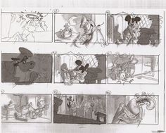Storyboard Sequence For DisneyS Dumbo By Bill Peet  All