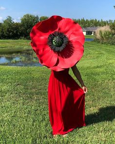 New addition is coming to my giant flower garden ♥️💃🏻 🌹 Giant Paper Flowers, Big Flowers, Alice In Wonderland Decorations, My Giants, Crepe Paper, Red Poppies, Event Decor, Poppy, Sapphire
