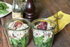 Chicken Salad in a Jar YUM! perfect for lunch to go! my kind of food!