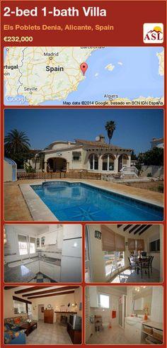 2-bed 1-bath Villa in Els Poblets Denia, Alicante, Spain ►€232,000 #PropertyForSaleInSpain