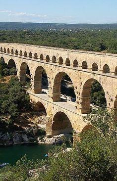 UNESCO World Heritage Site - Pont du Gard, France.