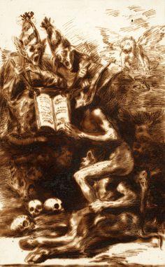 Francisco Goya, Sueño De Brujas, 1796-1797 on ArtStack #francisco-goya #museumweek