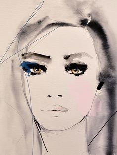 """Shaded Passage"" Fashion Illustration by Leigh Viner #Art #Illustration #Portrait"