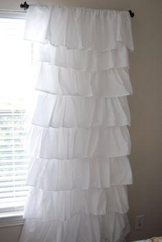 DIY $8 Ruffle Curtain Tutorial