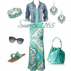 Summer Outfit-Super Cute and looks comfy. I love the whole look- especially the jewelry! Mode Outfits, Casual Outfits, Summer Outfits, Fashion Outfits, Womens Fashion, Fashion Trends, Budget Fashion, Skirt Outfits, Teen Fashion