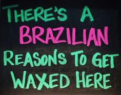 A Brazilian wax is a little crazy the first time, but there at many GOOD reasons to get it done at the Brazilian Waxing Boutique: 1. We NEVER EVER double dip. ever. 2. We specialize in speed waxing, so you'll be out of there in 15 minutes or less! 3. Our wax contains essential oils that does wonders for your skin. 4. We're super dooper clean of course. 5. We provide the right information and tools to try to keep your Brazilian ingrown free! #brazilianwax #depilacion