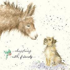 Wrendale Designs footprints Christmas Card NEW Donkey Border Christmas friends