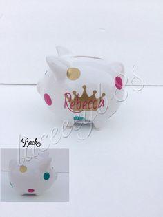 b7aabb4b2e96 MINI Princess Piggy Bank-Piggy Bank Favor by laceeeyb88 on Etsy https