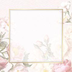 Flower Background Wallpaper, Framed Wallpaper, Flower Backgrounds, Background Pictures, Background Patterns, Instagram Frame, Frame Template, Floral Border, Free Illustrations