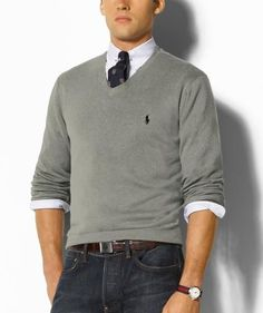 Polo Ralph Lauren Mens Cashmere V Neck