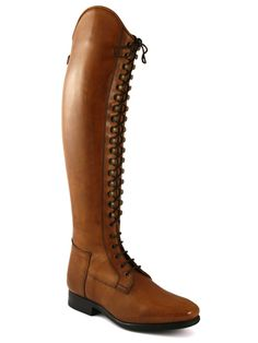 Celeris Bia dressage boot has a Victorian feel with the tight laces up the front…