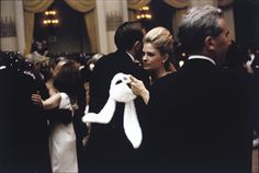 Candice Bergen - holding her white bunny mask - at Truman Capote's masked ball