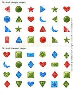 Shapes11 - math Worksheets - preschool Worksheets