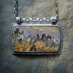 Sterling Silver Necklace with Prudent Man Agate by McComseyDesigns