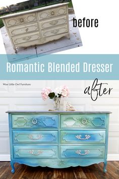 Using Dixie Belle chalk paint to create a romantic blended look. Click to learn this painting technique and others to customize furniture to your taste. #paintedfurniture #dixiebellepaint #bestpaintonplanetearth Furniture Vanity, Paint Furniture, Furniture Makeover, Diy Furniture Projects, Repurposed Furniture, Painted Vanity, Painted Dressers, French Provincial Dresser, Furniture Painting Techniques