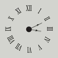 Roman Numeral Wall Decal Clock