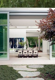 Modern Dining Room by Unique Custom Interiors and Lehrer Architects LA in Los Angeles, California