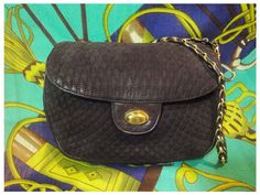 Vintage BALLY dark brown quilted genuine suede leather by eNdApPi, $182.00