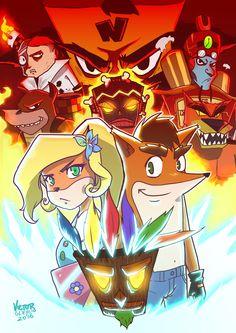 Fanart - Crash Bandicoot: por Team Banquition