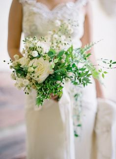 Green & White Wedding Bouquet [by Jose Villa] White Wedding Bouquets, Bride Bouquets, Floral Wedding, Bridesmaid Flowers, Fall Wedding, Bridesmaids, Rustic Bouquet, Deco Floral, Bridal Flowers