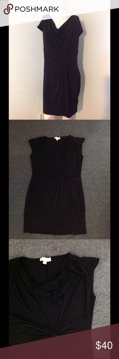 Michael Kors Black Stretch Sheath Dress XL Very nice MK dress. Black stretch sheath style with a draped neckline and a twist at the waist. Size XL. Great condition. Michael Kors Dresses