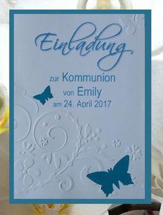 details zu einladungskarte kommunion konfirmation taufe firmung, Einladung