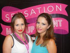 Da sinistra la candidata Corigliano Valentina insieme alla sua modella che esibisce il trucco completato!