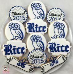 Rice University Cookies, RU Cookies, Rice Owls Cookies