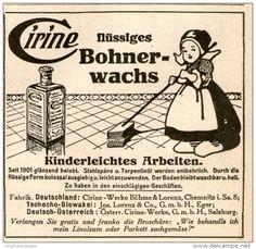 Original-Werbung/ Anzeige 1924 - CIRINE FLÜSSIGES BOHNERWACHS - ca. 70 x 70 mm