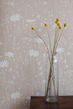 Daisy Meadow Wallpaper in Dusk by Hannahnunn on Etsy https://www.etsy.com/listing/268002062/daisy-meadow-wallpaper-in-dusk
