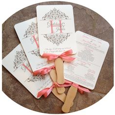 Hey, I found this really awesome Etsy listing at https://www.etsy.com/listing/218776505/wedding-program-fan-elegant-scroll