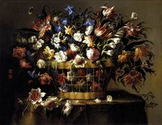 Painting, Basket of Flowers, Juan de Arellano