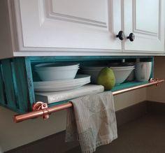 Kitchen Shelf CUSTOM Under CaBINet with by DellaLucilleDesigns