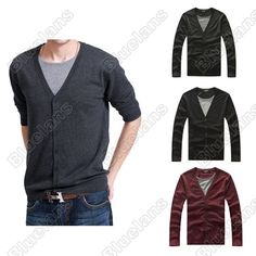 Discount China china wholesale Mens Casual Fashion Stylish Round Collars Button Best Dress Long Sleeve All-match Sweater [30079] - US$32.49 : DealsChic